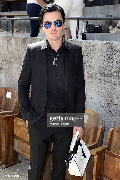 Michael Pitt attends the Chanel show as part of Paris Fashion Week HauteCouture Fall/Winter 20132014 at Grand Palais on July 2 2013 in Paris France