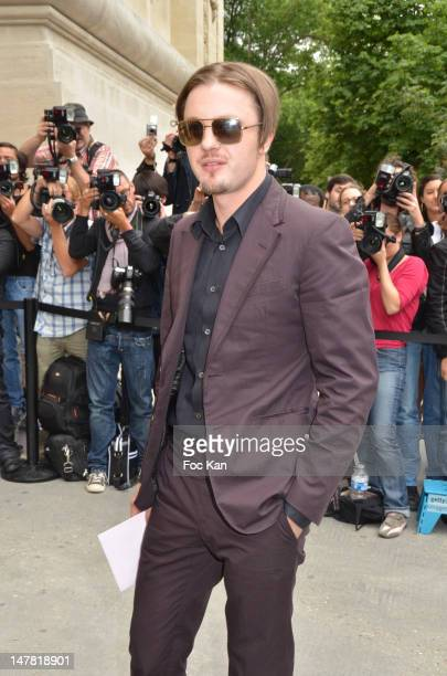 Michael Pitt attends the Chanel show during Paris Fashion Week Haute Couture F/W 2012/13 at Le Grand Palais on July 3 2012 in Paris France