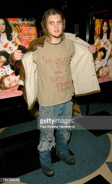 Michael Pitt during 'The Dreamers' Premiere New York Inside Arrivals at Beekman Theater in New York City New York United States