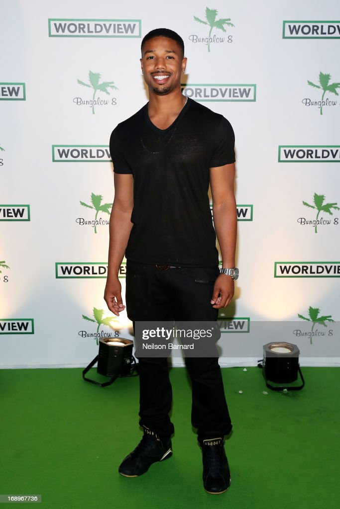 Michael PJordan attends the Worldview Entertainment Cannes Celebration during the 66th Annual Cannes Film Festival at Carlton Beach Club on May 17, 2013 in Cannes, France.