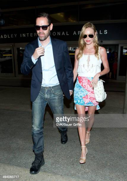 Michael Polish and Kate Bosworth are seen at LAX on May 27 2014 in Los Angeles California