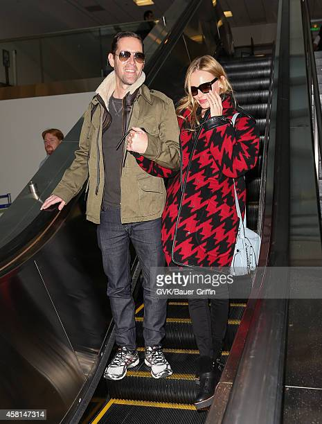Michael Polish and Kate Bosworth are seen at LAX on October 30 2014 in Los Angeles California