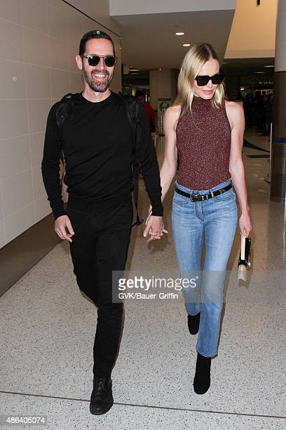 Michael Polish and Kate Bosworth are seen at LAX on September 03 2015 in Los Angeles California
