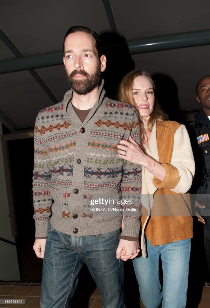 Michael Polish and Kate Bosworth are seen on November 03, 2013 in Los Angeles, California.