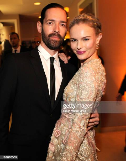 Michael Polish and Kate Bosworth attend the 2013 Vanity Fair Oscar Party hosted by Graydon Carter at Sunset Tower on February 24 2013 in West...
