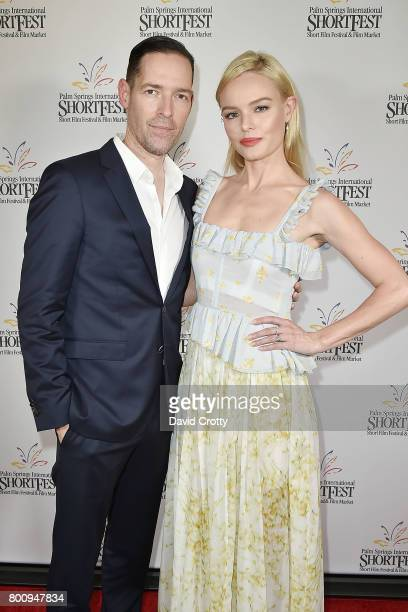 Michael Polish and Kate Bosworth attend the 2017 Palm Springs International Festival of Short Films Awards Ceremony on June 25 2017 in Palm Springs...