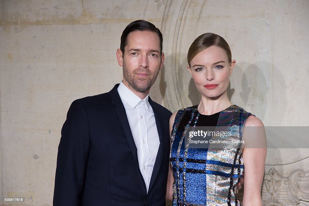 Michael Polish and Kate Bosworth attend the Christian Dior show as part of Paris Fashion Week Haute Couture Spring/Summer 2014, in Paris.