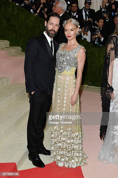 Michael Polish and Kate Bosworth attend the 'Manus x Machina Fashion in an Age of Technology' Costume Institute Gala at the Metropolitan Museum of...