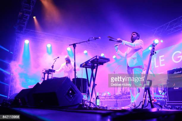 Michael Pope and David McGloughlin of Le Galaxie perform at Electric Picnic Festival at Stradbally Hall Estate on September 2 2017 in Dublin