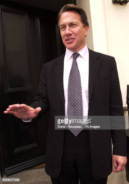 Michael Portillo arrives home in Central London amid speculation that he will stand for leader of the Conservative Party after William Hague...
