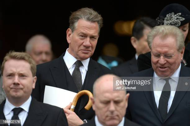 Michael Portillo leaves the Ceremonial funeral of former British Prime Minister Baroness Thatcher at St Paul's Cathedral on April 17 2013 in London...