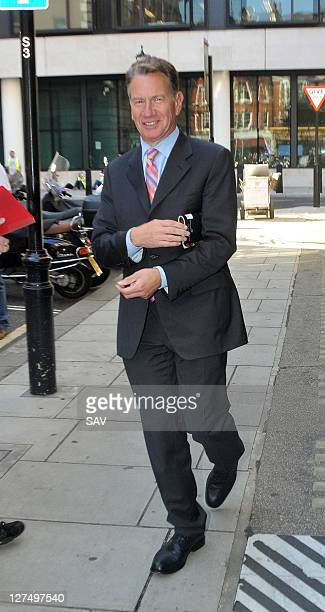Michael Portillo pictured outside Radio 2 on September 28 2011 in London England