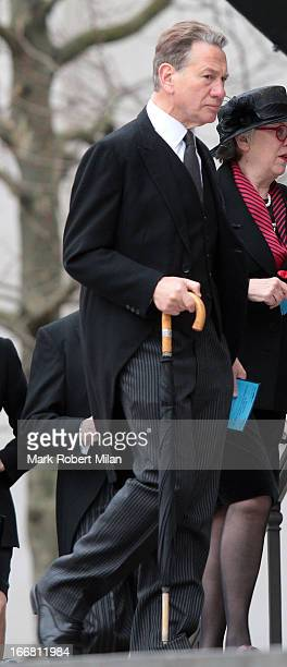 Michael Portillo sighting during the funeral of former British prime minister Margaret Thatcher on April 17 2013 in London England