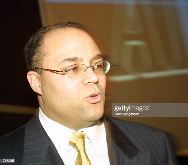 Michael Powell FCC commissioner attends the National Association of Program Executives convention January 21 2001 in Las Vegas NV
