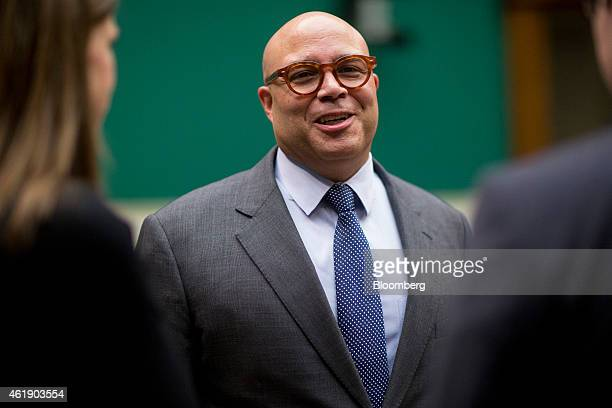 Michael Powell president and chief executive officer of the National Cable and Telecommunications Association talks before a House Energy and...