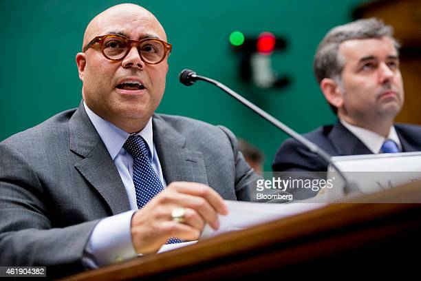 Michael Powell president and chief executive officer of the National Cable and Telecommunications Association left speaks during a House Energy and...