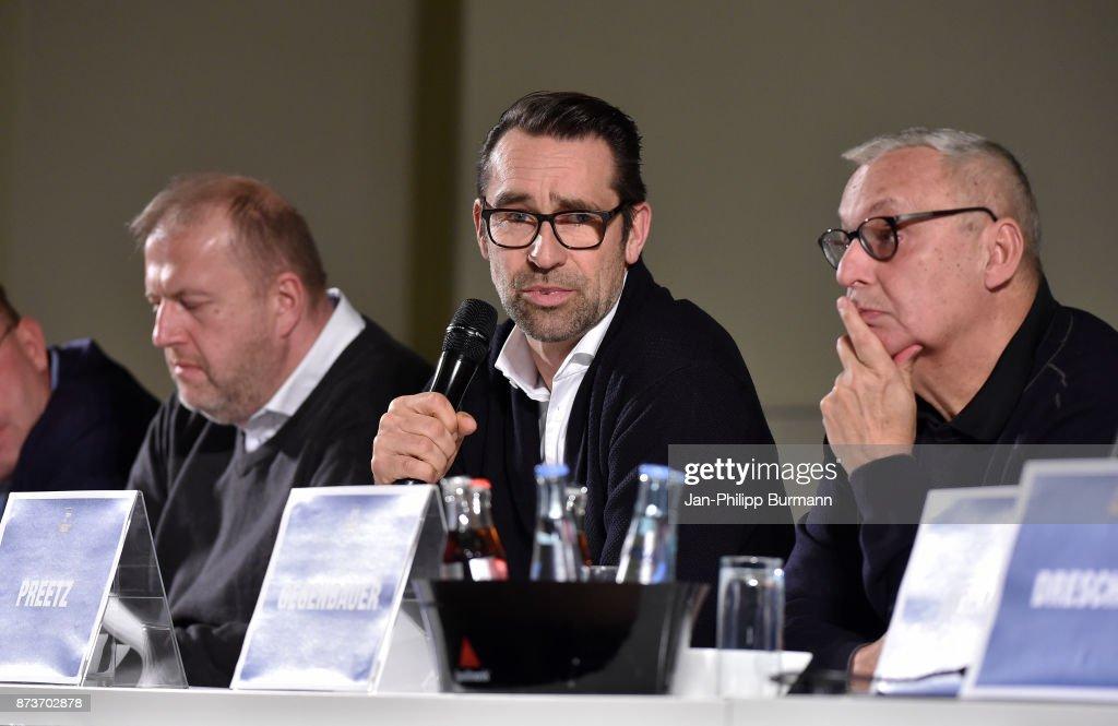 CEO Michael Preetz of Hertha BSC bei Hertha BSC im Dialog on november 13, 2017 in Berlin, Germany.