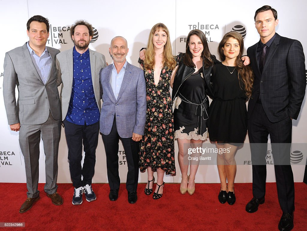 Michael Pruss, Drake Doremus, Russell Levine, Raven Pierson, Olivia Levine, Leslie Aaron Roth and Nicholas Hoult attend 'Equals' Red Carpet Premiere Night during Tribeca Film Festival at BMCC John Zuccotti Theater on April 18, 2016 in New York City.
