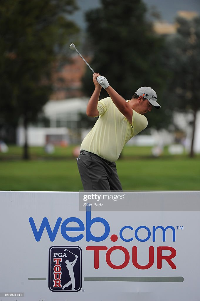 Michael Putnam hits a drive on the 11th hole during the practice round for the Colombia Championship at Country Club de Bogotá on February 27, 2013 in Bogotá, Colombia.