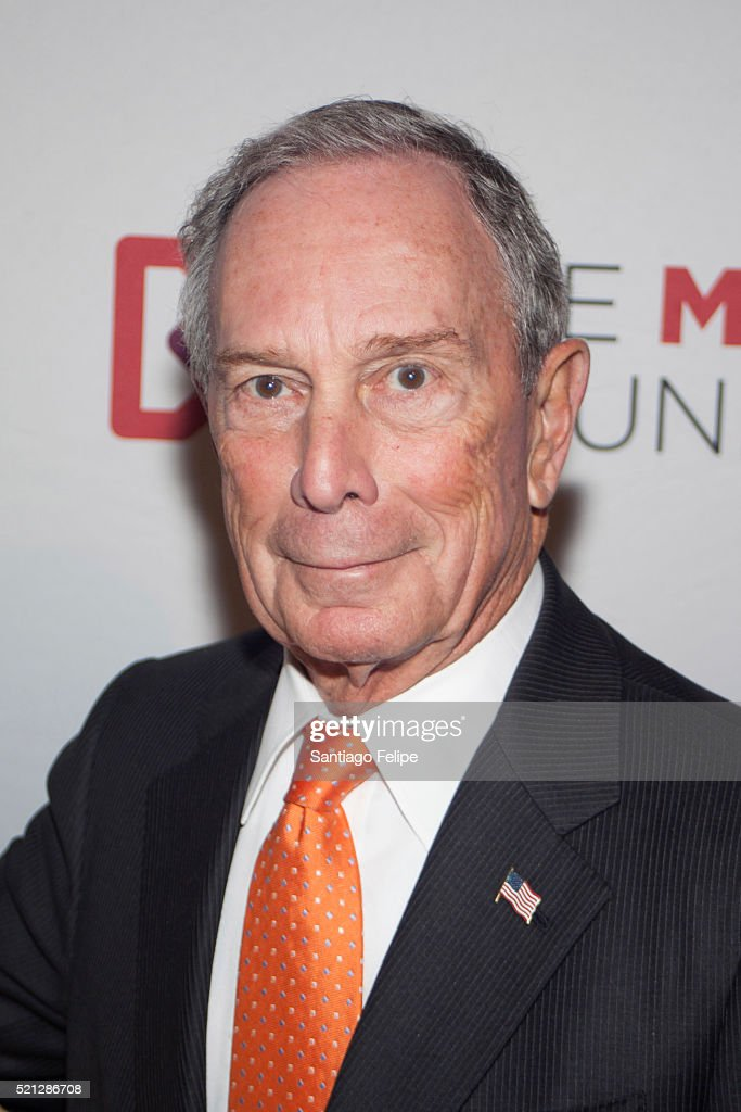Michael R. Bloomberg attends 2016 Marfan Foundation HeARTworks Gala at Cipriani 42nd Street on April 14, 2016 in New York City.