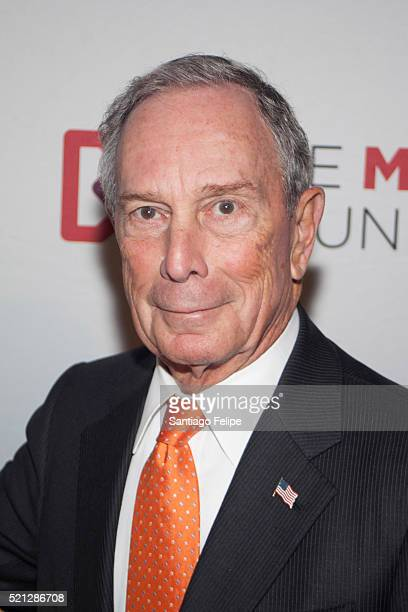 Michael R Bloomberg attends 2016 Marfan Foundation HeARTworks Gala at Cipriani 42nd Street on April 14 2016 in New York City