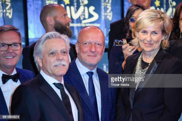 Michael Radix Roger de Weck and Karola Wille attend the CIVIS Media Award 2017 on June 1 2017 in Berlin Germany