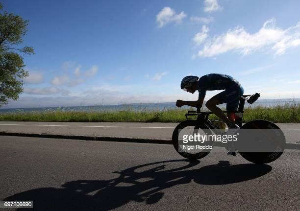 Michael Raelert of Germany competes in the bike section of KMD IRONMAN 703 European Championship Elsinore on June 18 2017 in Helsingor Denmark
