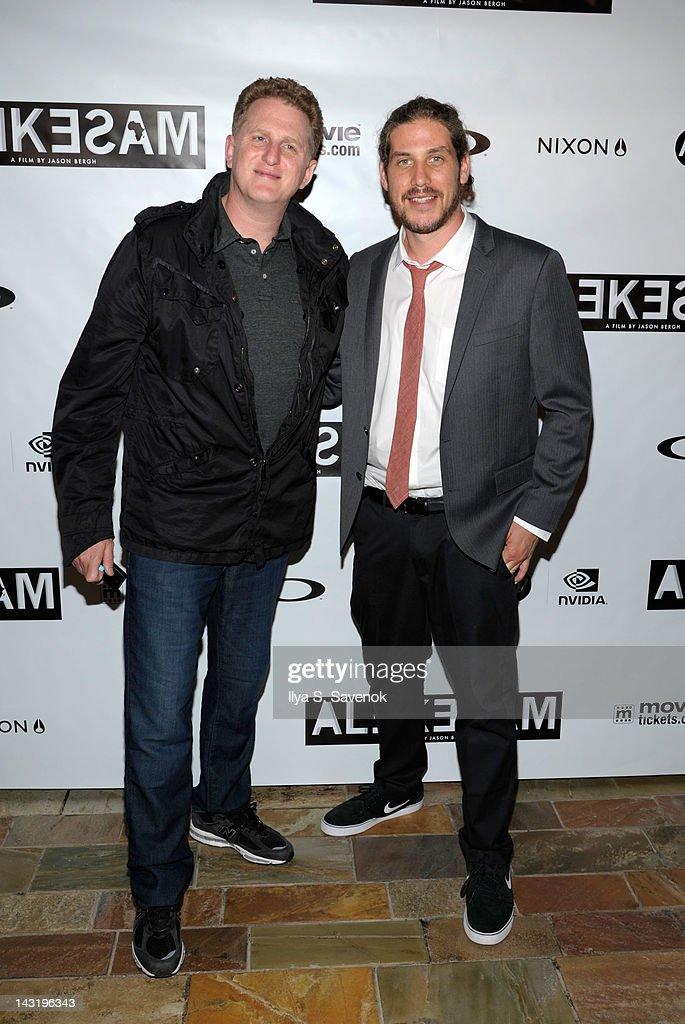 Michael Rapaport and Jason Bergh attend the premiere of 'Alekesam' at Tribeca Grand Hotel on April 20, 2012 in New York City.