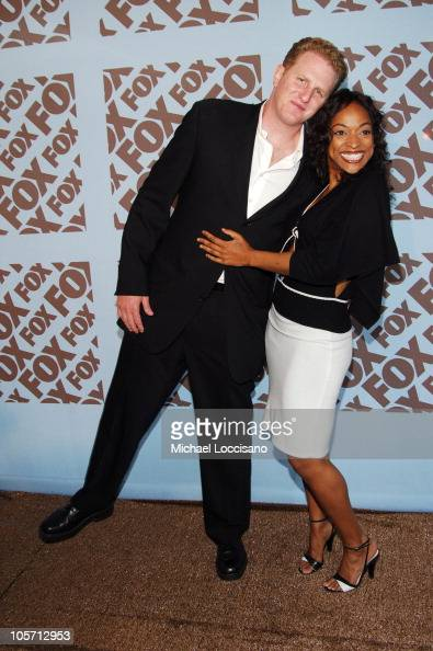 Michael Rapaport and Kellita Smith during 2005/2006 FOX Prime Time UpFront Arrivals in New York City New York United States