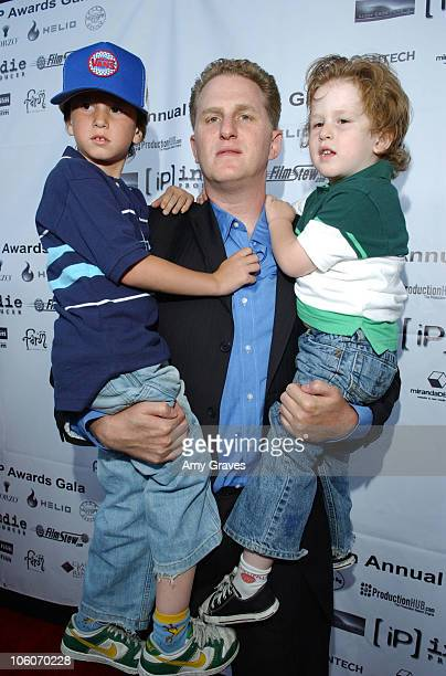 Michael Rapaport and sons Macio and Julian during 4th Annual Indie Producers Awards Gala at Writers Guild Theater in Beverly Hills California United...