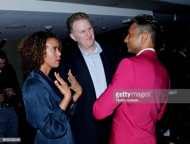 Michael Rapaport and Utkarsh Ambudkar attend the premiere of Showtime's 'White Famous' after party on September 27 2017 in West Hollywood California