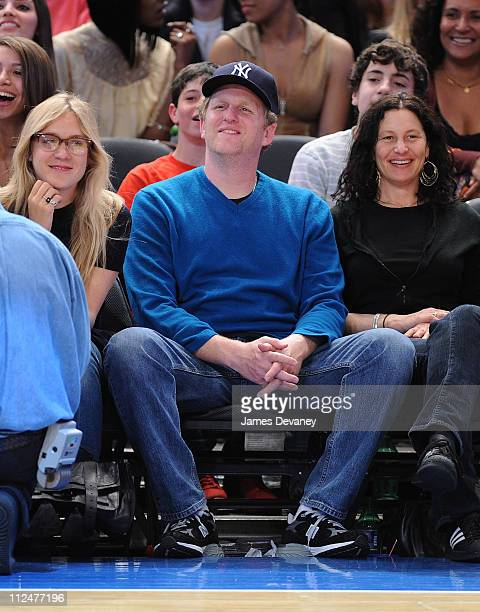 Michael Rapaport attends New Orleans Hornets vs New York Knicks game at Madison Square Garden on March 27 2009 in New York City
