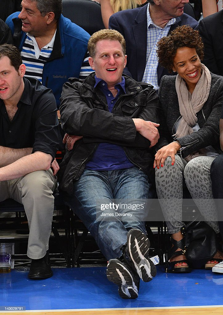<a gi-track='captionPersonalityLinkClicked' href=/galleries/search?phrase=Michael+Rapaport&family=editorial&specificpeople=234353 ng-click='$event.stopPropagation()'>Michael Rapaport</a> attends the New York Knicks vs Boston Celtics basketball game at Madison Square Garden on April 17, 2012 in New York City.