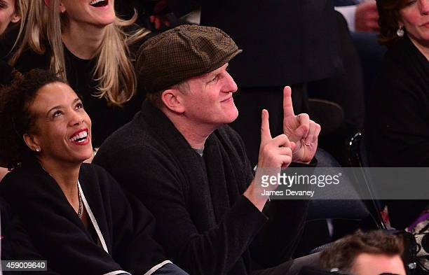 Michael Rapaport attends the Utah Jazz vs New York Knicks game at Madison Square Garden on November 14 2014 in New York City