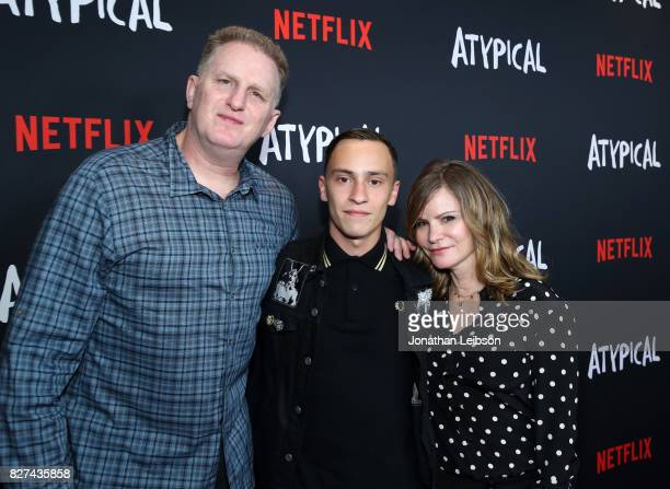 Michael Rapaport Keir Gilchrist and Jennifer Jason Leigh attend the Netflix original series 'Atypical' special screening on August 7 2017 in Los...