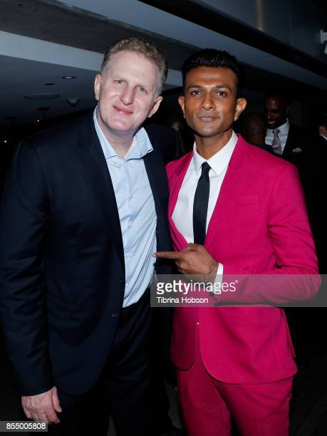 Michael Rapaport Utkarsh Ambudkar attend the premiere of Showtime's 'White Famous' after party on September 27 2017 in West Hollywood California
