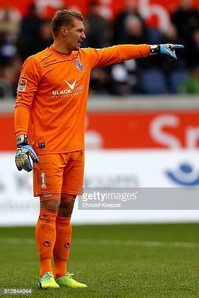 Michael Ratajczak of Duisburg issues instructions during the 2 Bundesliga match between MSV Duisburg and FC St Pauli at SchauinslandReisenArena on...