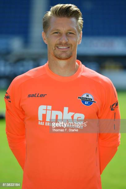 Michael Ratajczak poses during the Third League team presentation of SC Paderborn 07 at Benteler Arena on July 13 2017 in Paderborn Germany