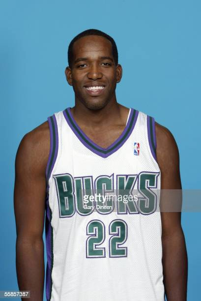 Michael Redd of the Milwaukee Bucks poses for a portrait during NBA Media Day on October 3 2005 in St Francis Wisconsin NOTE TO USER User expressly...