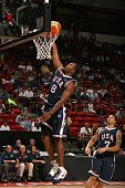 Michael Redd of the USA Men's Senior National Team takes the ball to the basket during the first round of the 2007 FIBA Americas Championship against...