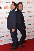 Michael Rezendes and Actor Mark Ruffalo attend the 'Spotlight' premiere during the 2015 Toronto International Film Festival at the Princess of Wales...