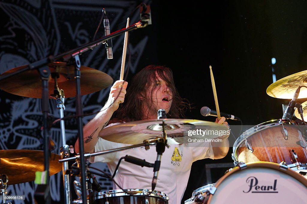 Michael Richards of Violent Soho performs at St Jerome's Laneway Festival on February 13, 2016 in Melbourne, Australia.