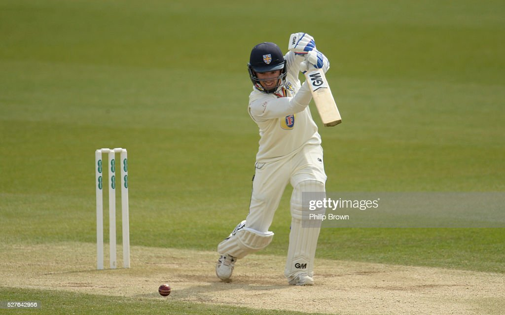 Michael Richardson of Durham bats during day three of the Specsavers County Championship Division One match between Surrey and Durham at the Kia Oval on May 3, 2016 in London, England.