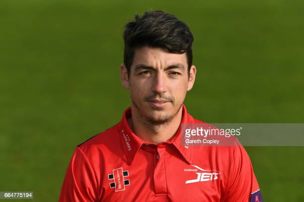 Michael Richardson of Durham poses for a portrait during their press day at The Riverside on April 5 2017 in ChesterleStreet England