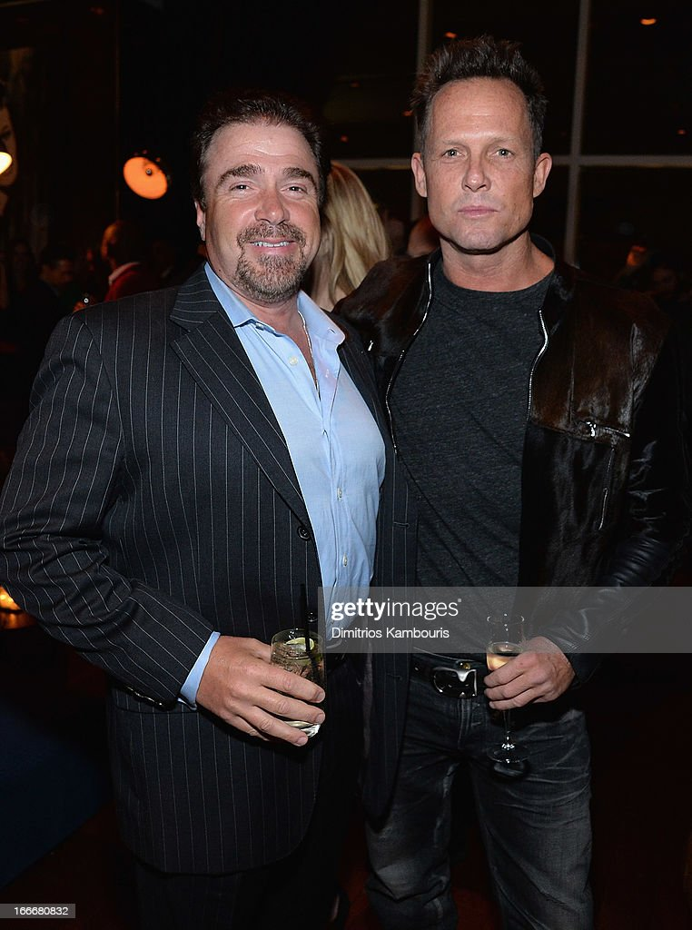 Michael Rispoli and <a gi-track='captionPersonalityLinkClicked' href=/galleries/search?phrase=Dean+Winters&family=editorial&specificpeople=213293 ng-click='$event.stopPropagation()'>Dean Winters</a> attend the after party for the Cinema Society and Men's Fitness screening of 'Pain and Gain' at Jimmy At The James Hotel on April 15, 2013 in New York City.