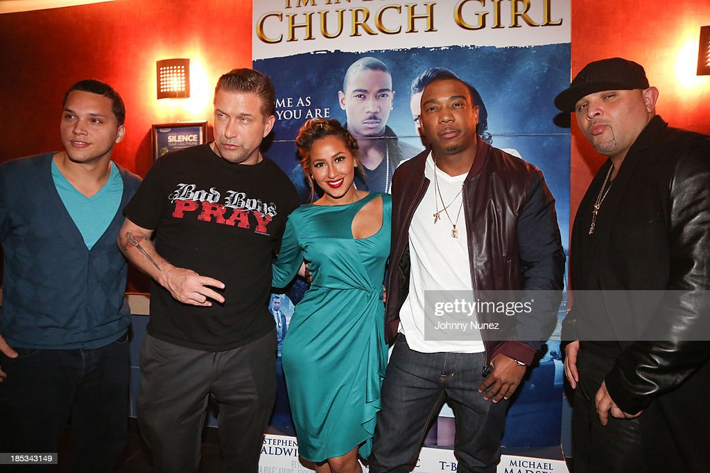 Michael Rivera, <a gi-track='captionPersonalityLinkClicked' href=/galleries/search?phrase=Stephen+Baldwin&family=editorial&specificpeople=213776 ng-click='$event.stopPropagation()'>Stephen Baldwin</a>, <a gi-track='captionPersonalityLinkClicked' href=/galleries/search?phrase=Adrienne+Bailon&family=editorial&specificpeople=540286 ng-click='$event.stopPropagation()'>Adrienne Bailon</a>, <a gi-track='captionPersonalityLinkClicked' href=/galleries/search?phrase=Ja+Rule&family=editorial&specificpeople=202108 ng-click='$event.stopPropagation()'>Ja Rule</a> and Galley Molina attend the 'I'm In Love With a Church Girl' screening at the Regal E-Walk Stadium 13 on October 18, 2013 in New York City.