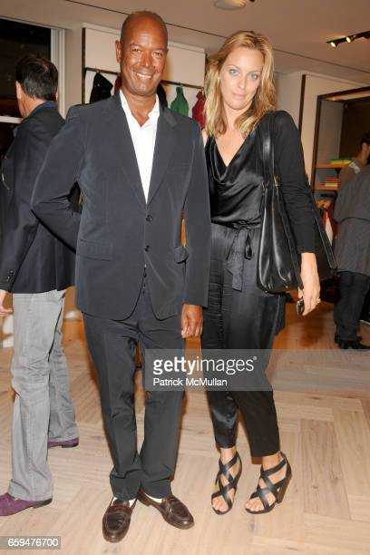 Michael Roberts and Jessica Diehl attend FACONNABLE Spring/Summer 2010 Presentation at Faconnable Showroom on September 10 2009 in New York City