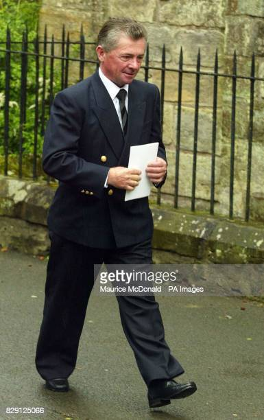 Michael Roberts at the funeral of Alec Stewart at Culross Abbey Church in Scotland Alec Stewart trained great Mtoto ridden by Michael Roberts to...
