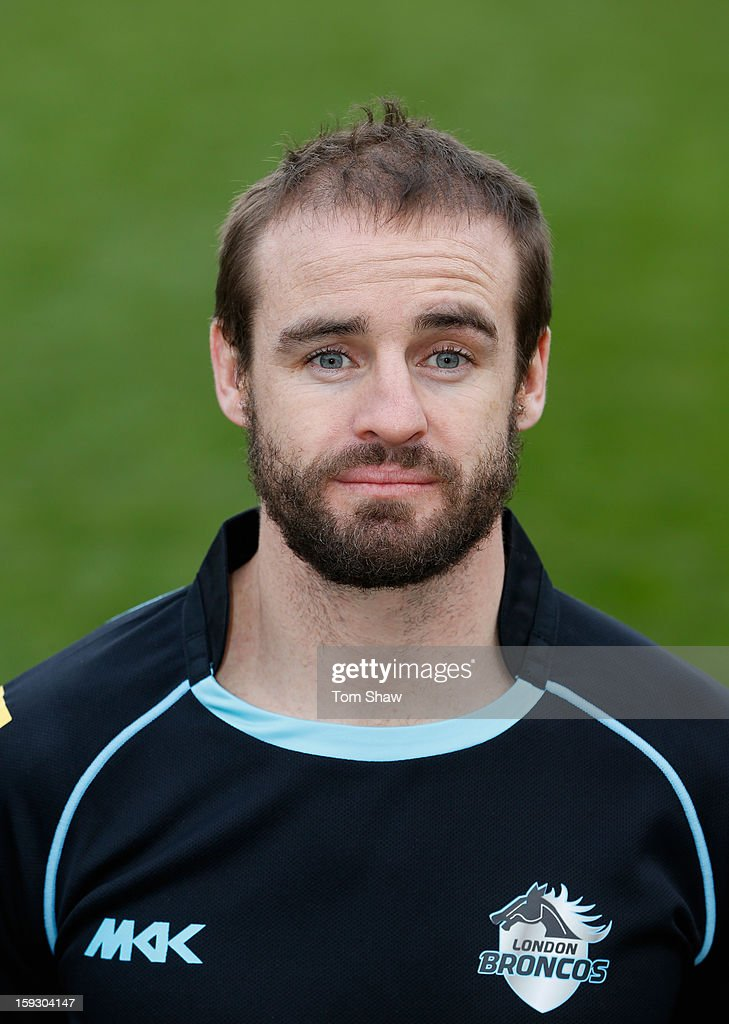 <a gi-track='captionPersonalityLinkClicked' href=/galleries/search?phrase=Michael+Robertson&family=editorial&specificpeople=234359 ng-click='$event.stopPropagation()'>Michael Robertson</a> of London Broncos poses for a headshot during the London Broncos Photocall at Honourable Artillery Company on January 11, 2013 in London, England.