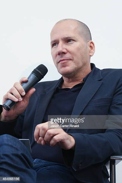 Michael Rock Creative Director/Founder of 2X4 speaks at The Details Tech Tastemasters Summit By Details Magazine on September 3 2014 in New York City